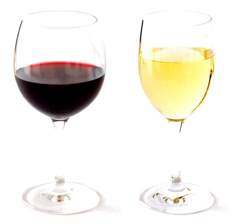 Calice di vino della casa bianco / rosso