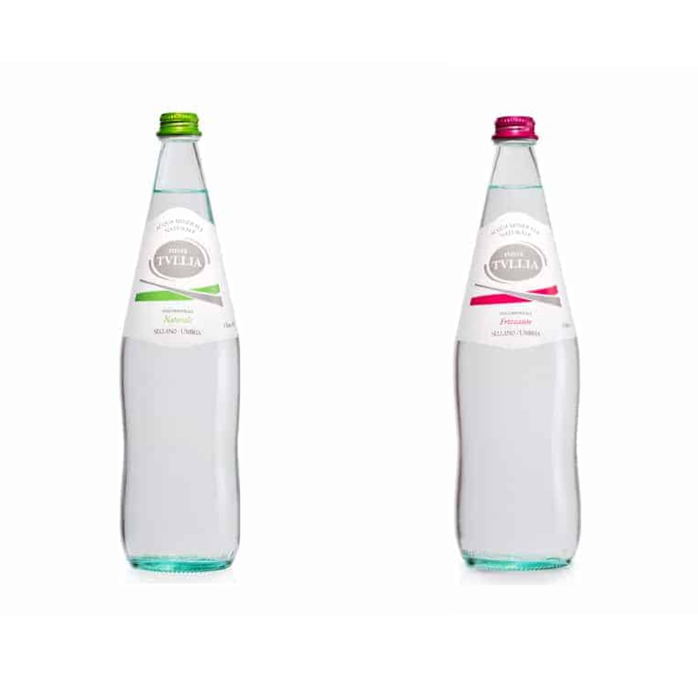 Acqua minerale naturale / frizzante Tullia 1 litro