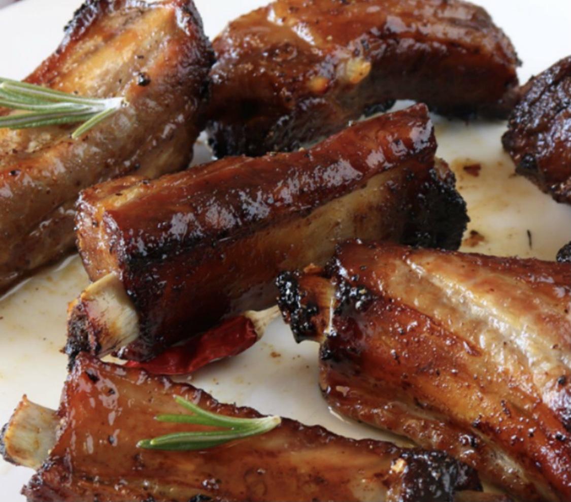 Costine di maiale arrosto